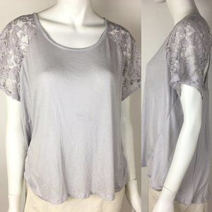 Victorias Secret Pink Lace Racer Back Shirt Top L